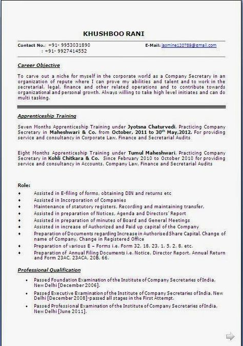 copy of a cv Sample Template Example of Excellent Curriculum Vitae - copy resume format