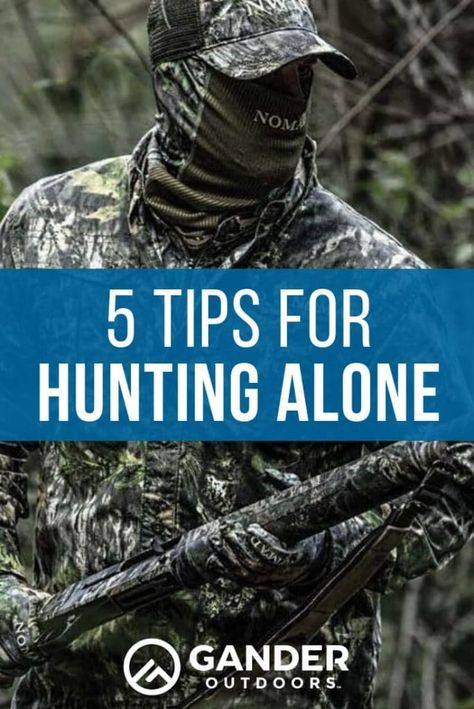 Tips for Hunting Alone Whatever your reason for hunting solo, you should make sure you're prepared to do so. Don't just head out in the morning as you would when hunting with others. To ensure you hav Elk Hunting Tips, Whitetail Deer Hunting, Coyote Hunting, Pheasant Hunting, Archery Hunting, Hunting Gear, Hunting Quotes, Crossbow Hunting, Archery Training