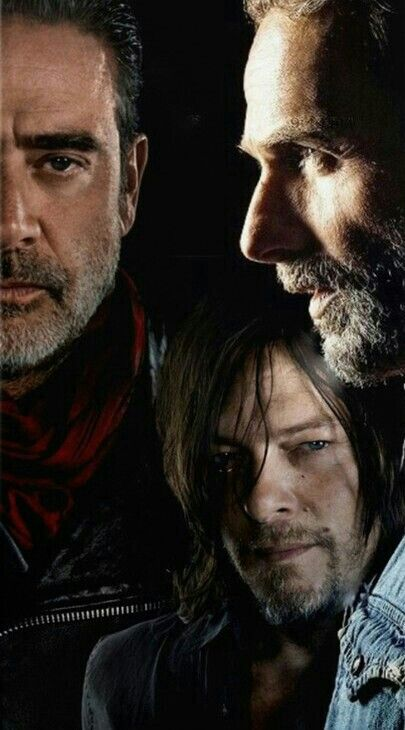 War Rickdaryl And Negan Walking Dead Characters Daryl