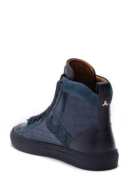 Hekem Crocodile Embossed Leather High