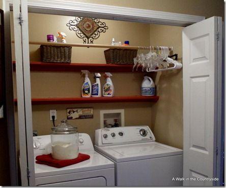 Hanging Rod Bar In Laundry Closet Genius