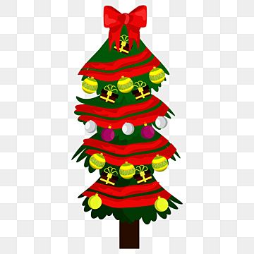 Lovely Christmas Tree With Red Ribbon Png Design Cute Culture Decoration Png And Vector With Transparent Background For Free Download Merry Christmas Text Christmas Tree Background Red Christmas Tree