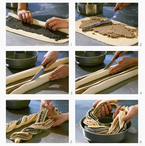 Wickelkuchen mit Mohn-Nuss-Füllung   Zeit: 1 Std.   http://eatsmarter.de/rezepte/wickelkuchen-mit-mohn-nuss-fuellung