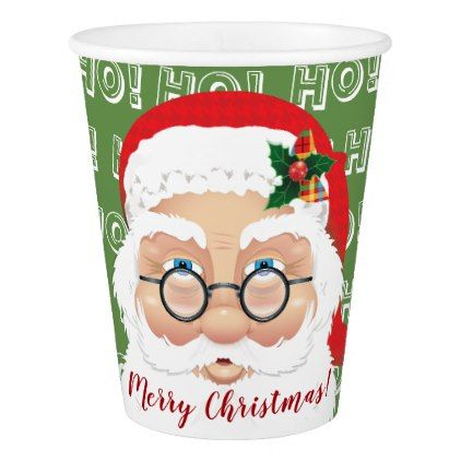 Santa Claus Christmas Holiday Party Paper Cup Decor Gifts Diy Home Living Cyo Giftidea Santa Gifts Party Paper Christmas Holidays