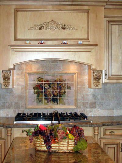 Ceramic Tile Murals For Kitchen Backsplash Tile Murals Kitchen
