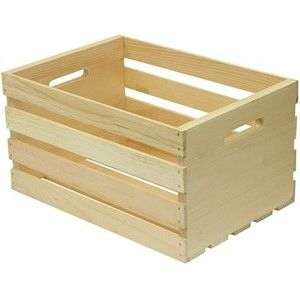 Houseworks Large Wood Storage Crate Brown Crate Storage Wood