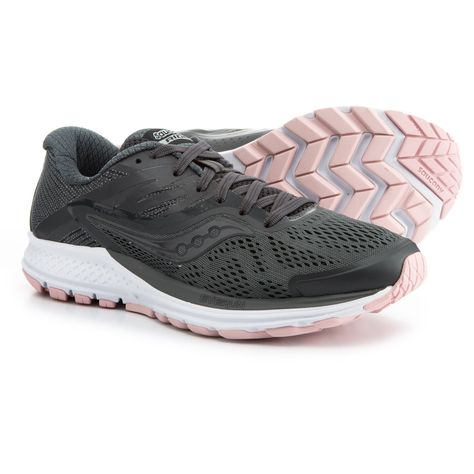 7717ad63e9e4 Saucony Ride 10 Running Shoes (For Women) in Gunmetal Pink