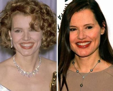 Geena Davis Facelift Celebrity Face-Lift Before And After - nolte küchen germersheim