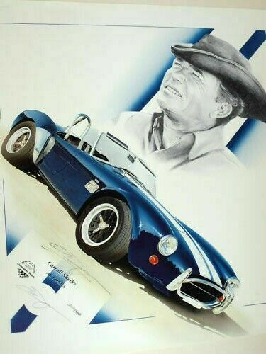 Details About Ac Cobra Carroll Shelby New Uk Print The Legend From
