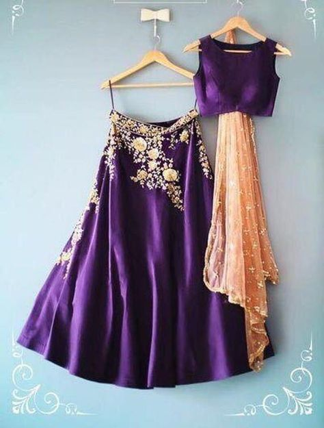 Purple embroidered lehenga choli, purple lengha peach dupatta, indian wedding outfit, indo western e