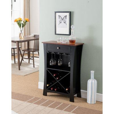 Alcott Hill Kincer Bar With Wine Storage Wayfair In 2020 Wine Cabinets Wine Storage Bar Cabinet