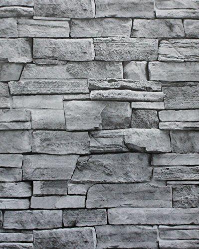 Haokhome 1633 Faux Stone Wallpaper Grey Peel Stick Stacke Https Www Dp B07 White Brick Wallpaper Brick Wallpaper Brick Wallpaper Peel And Stick