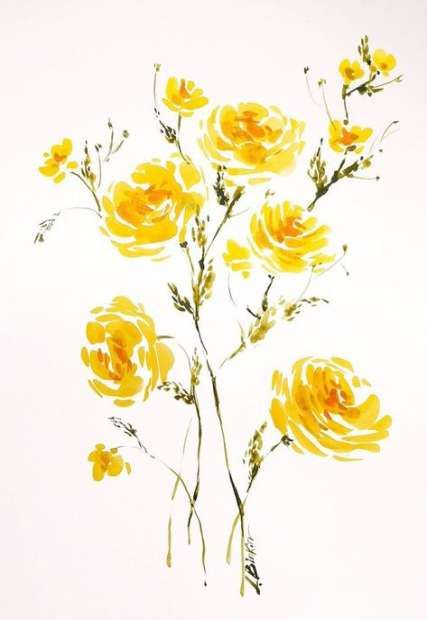 Super Flowers Yellow Art Etsy 20 Ideas Flowers Yellow Flower