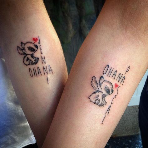 Best Friend Tattoos - 30 Delightful Ohana Tattoo Designs – No One Gets Left Behind