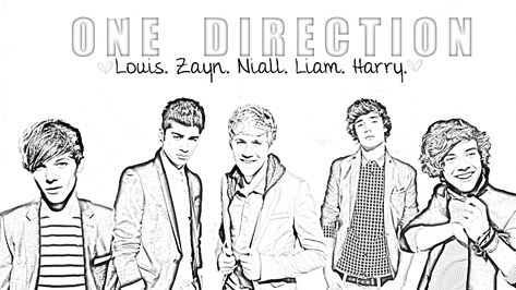 Kleurplaten One Direction Printen.Jan Bordelon Janb124 On Pinterest