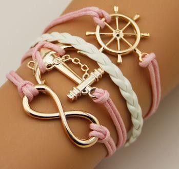 Vintage Fashion Women Jewelry Leather Multilayer Bracelets Jewellery
