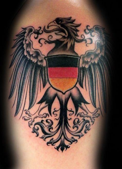 50 German Eagle Tattoo Designs For Men Germany Ink Ideas German Tattoo Eagle Tattoos Germany Tattoo