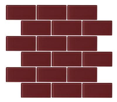 Glass Burgundy Amalfi Mosaic Wall And Floor Tile In 2020 Mosaic Wall Wall And Floor Tiles Tile Floor