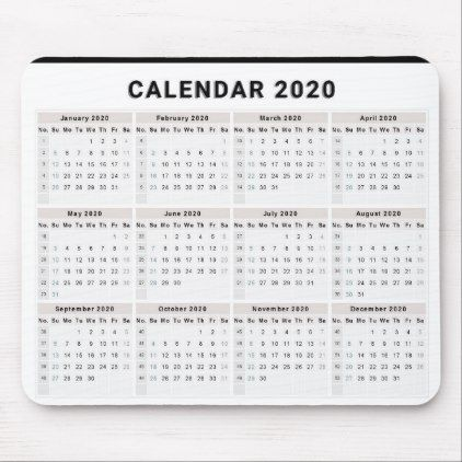 Clear Print Monthly Classic 2020 Calendar Dates Mouse Pad Calendars 2019 Personalized Calendar Office Mouse Pad Calendar Date Calendar