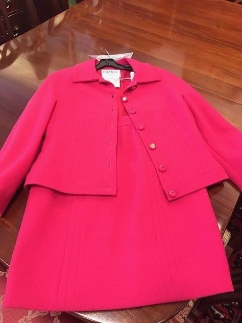 6ac228283090f Classic Chanel Suit Fuchsia!!! Double C Logo buttons!!! Double C Silk lined!   fashion  clothing  shoes  accessories  vintage  womensvintageclothing  ad  ...