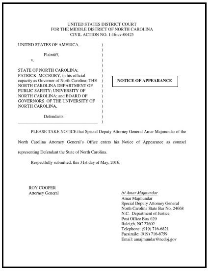 Notice Of Appearance Template Templates Words United States