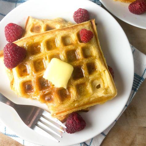 Vanilla Buttermilk Waffles Recipe Vanilla Recipes Food Waffles