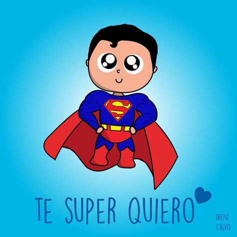 Ilustracion inspirada en Superman de Irene Calvo