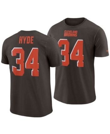 new arrivals 8d985 be473 Nike Men's Carlos Hyde Cleveland Browns Pride Name and ...