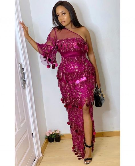 Aso Ebi Styles #143: Magenta Is The New Cool! | Kamdora