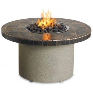Sedona By Lynx Lfpc C Circular Gas Fire Pit Table Contemporary Gray Fire Pit Table Gas Firepit Propane Fire Pit Table