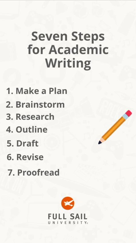 Seven Steps for Academic Writing
