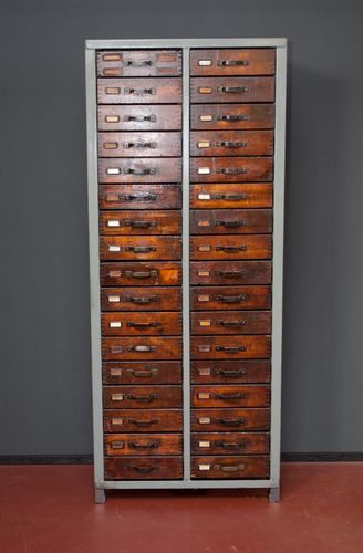 This Simple Tool Cabinet Or Drawer Cabinet Was In An Old Metalworking Shop And Has Been Refinished Without Lo Metal Tool Box Solid Wood Flooring Filing Cabinet