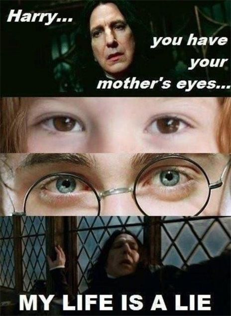 Well actually the both don't really have his mother's eyes cause I'm the books they were both supposed to have green eyes instead