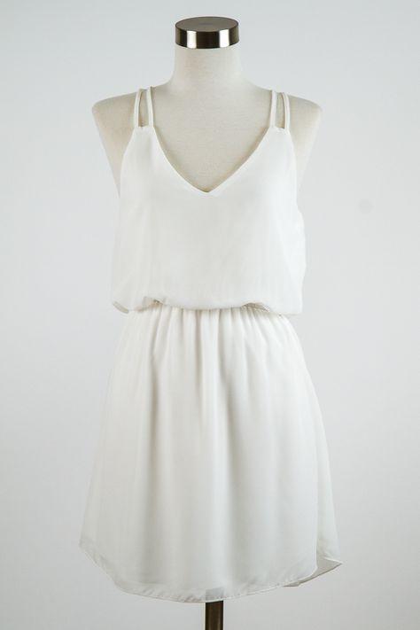 Greek goddess sunbathing spring golden strappies Double Strap White Sun Dress
