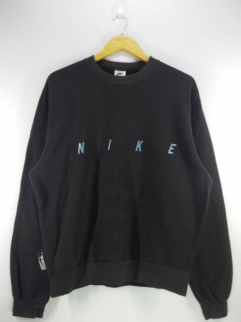 3a08e47b1b7 Nike Vintage 90's Nike Swoosh Spell Out Embroidery Gray Sweatshirt Jumper  Pullover Size Large Size US L / EU 52-54 / 3
