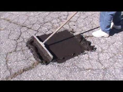 Repair Asphalt With Our Alligator Asphalt Repair System Asphalt Repair Concrete Repair Products Asphalt Driveway Repair