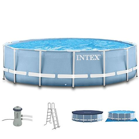 Intex 366x122 Pool Mit Filterpumpe Leiter Abdeckplane Unterlegeplane Anschlussset Fur Swimming Pool Schwimmbad Frame Metal Stahlwand Acessorios