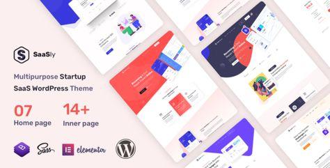 SaaSly — Startup Landing WordPress Theme   Stylelib