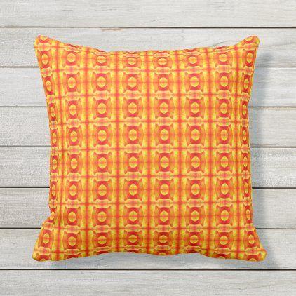 Bright Orange Bold Pattern Outdoor Throw Pillow Zazzle Com In 2021 Throw Pillows Outdoor Throw Pillows Bold Pattern