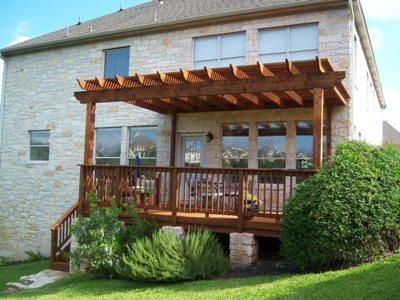 benchdeckpergola Deck with Attached Pergola Pergolas
