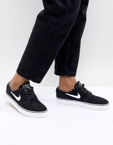 new style f266f 2c475 Nike Sb Zoom Stefan Janoski Trainers In Black And White