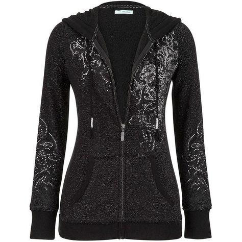 LADY Plus Size Angel Long Wings Rhinestones Hoodie Sweater Thick Zip-Up 1X2X3X4X