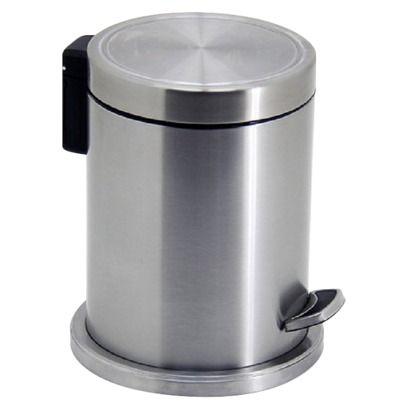 Target Home Step On Wastebasket Brushed Nickel Waste Basket Trash Can Bath Inspiration