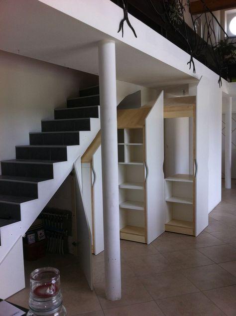 Placard Coulissant Sous Escalier Dressing Sous Escalier Rangement Sous Escalier Amenagement Maison