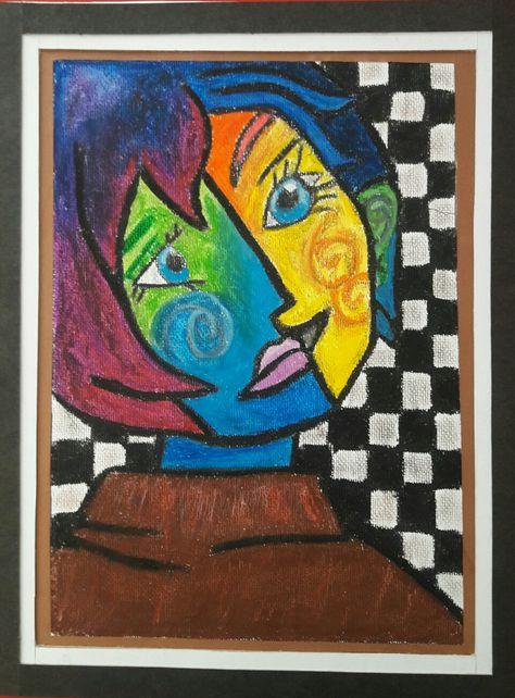Picasso 1 Pastel Boya Tablo 50 Tablolar Pastel Boyalar Pastel