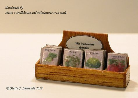 Dollhouse Miniature Seed Packets Display Box 112 by mettelaurendz