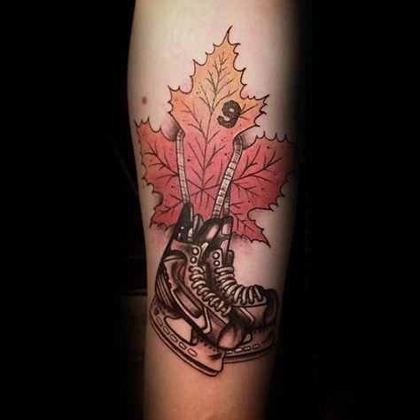 75 Hockey Tattoos For Men Nhl Design Ideas Tattoos For Guys Tattoos Hockey Tattoo