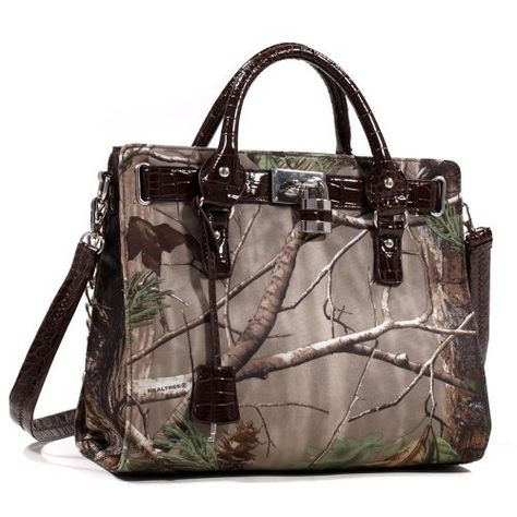 Realtree Camo Satchel, Womens APG  Coffee Faux Croc Purse Tote Handbag  Price : $59.99 http://www.camochique.com/Realtree-Camo-Satchel-Purse-Handbag/dp/B00E3OP45U