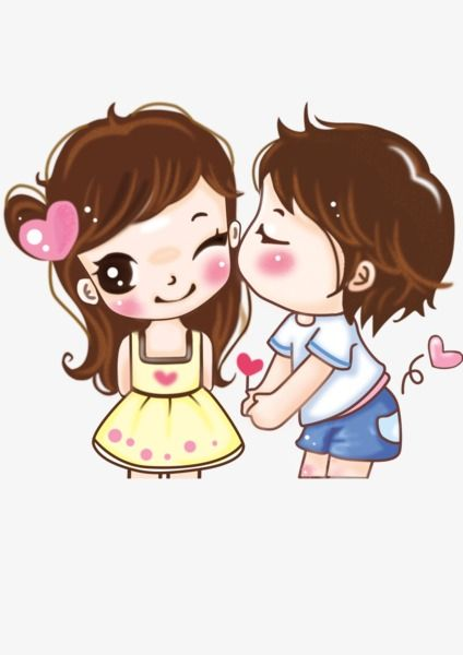 Lovely Couple Cartoon Ly Girl Png Transparent Image And Clipart