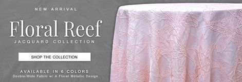 Floral Reef Jacquard Tablecloths & Overlays